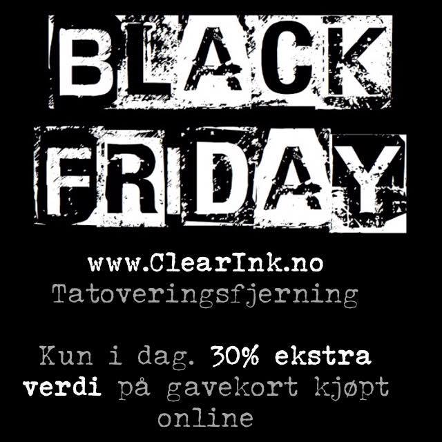 Clear ink black friday